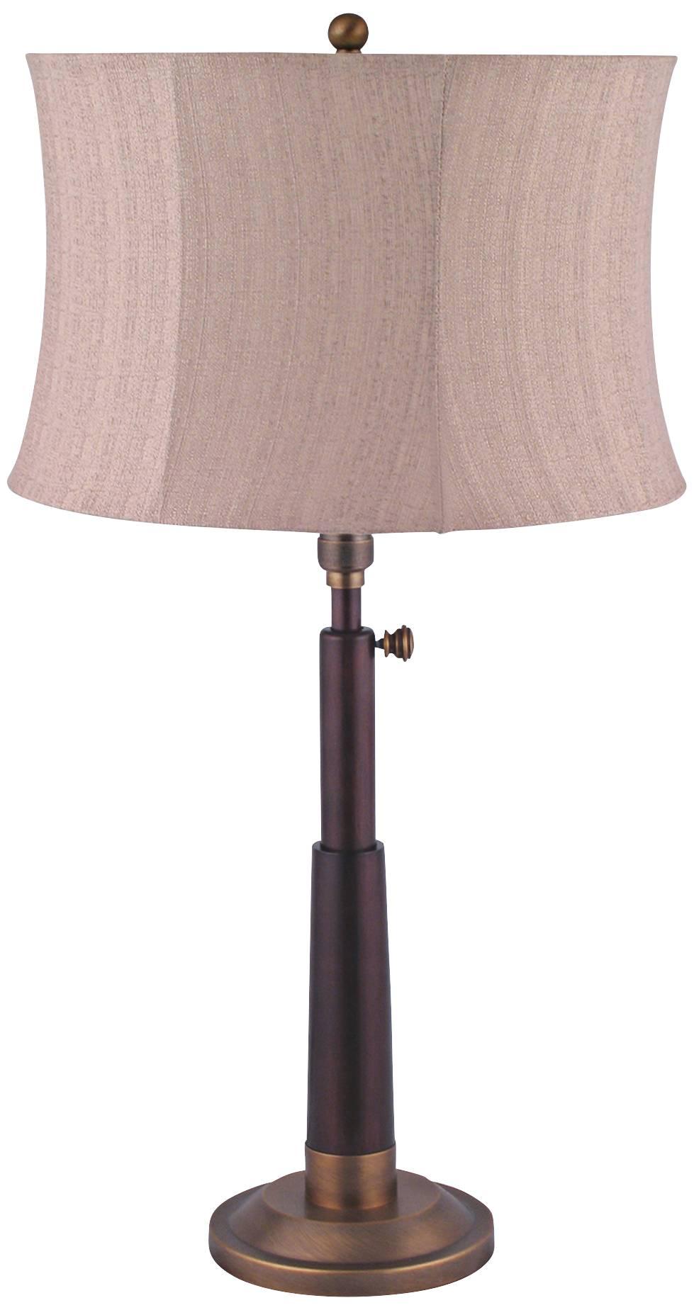 Ansel antique brass adjustable telescope table lamp