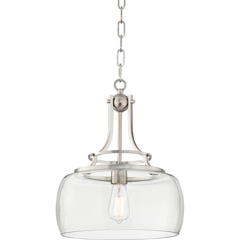 "Charleston 13 1/2"" Wide Brushed Nickel LED Pendant Light"