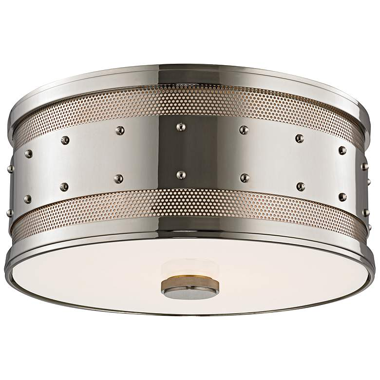 "Hudson Valley Gaines 12""W Polished Nickel Ceiling Light"