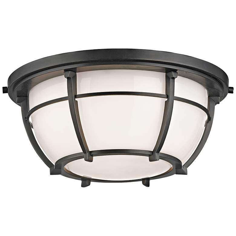 "Hudson Valley Conrad 11 3/4""W Old Bronze Ceiling Light"