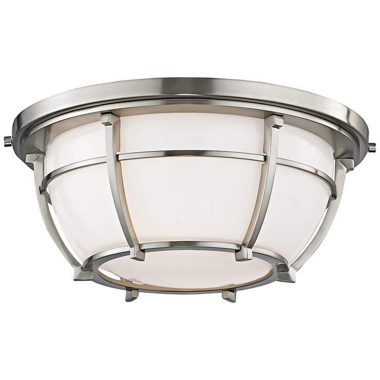 """Hudson Valley Conrad 11 3/4""""W Satin Nickel Ceiling Light"""