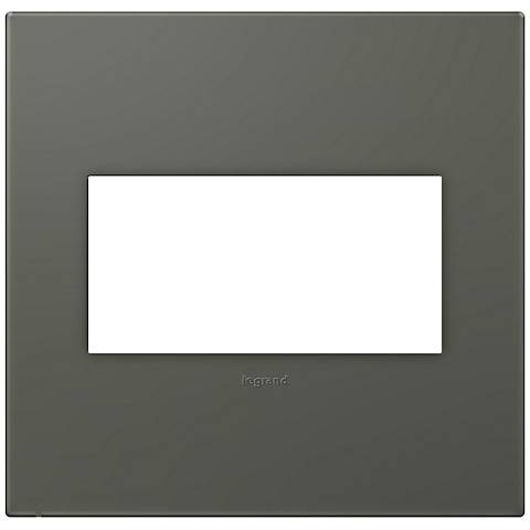 adorne® Soft Touch Moss Gray2-Gang Wall Plate