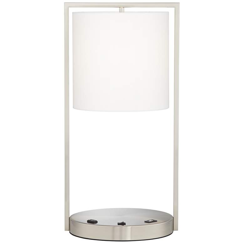 Rikki Metal Table Lamp with USB Port and Utility Plug