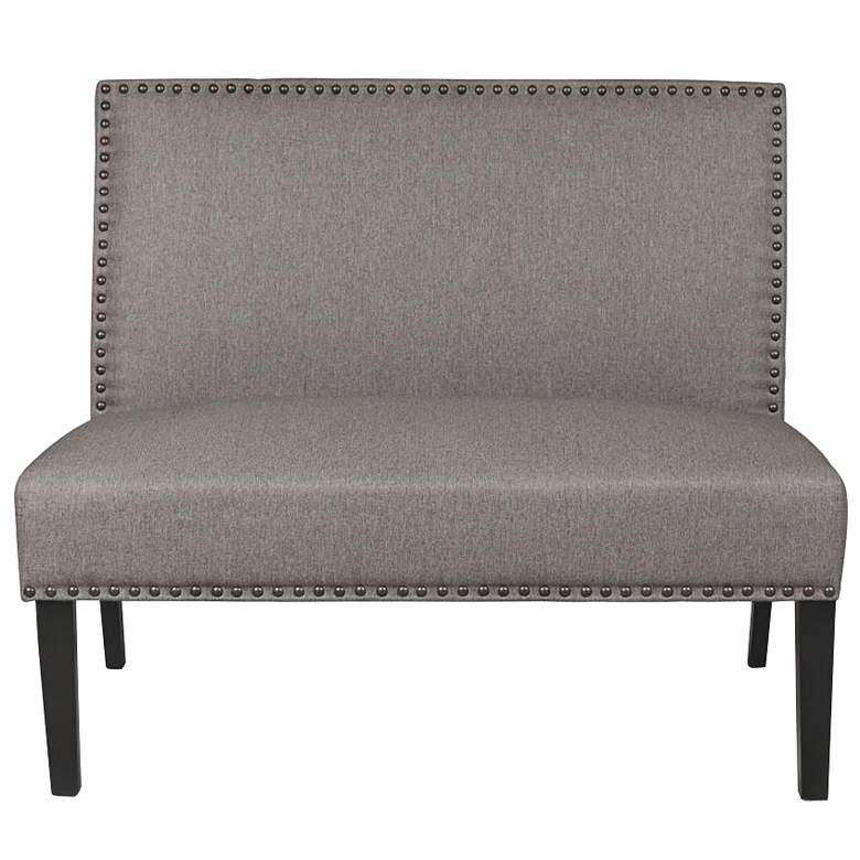 Banquette Cafe Linen Upholstered Settee