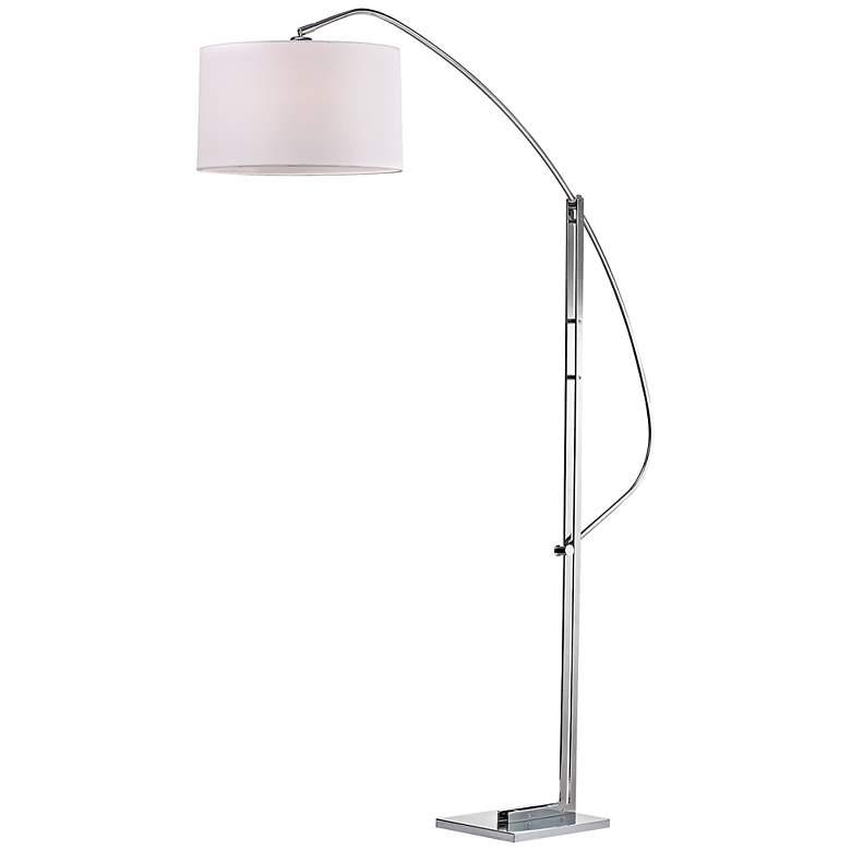 Assissi Adjustable Height Modern Nickel Floor Lamp