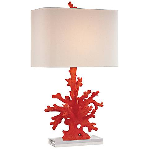 Red Coral Table Lamp 7p904 Lamps Plus