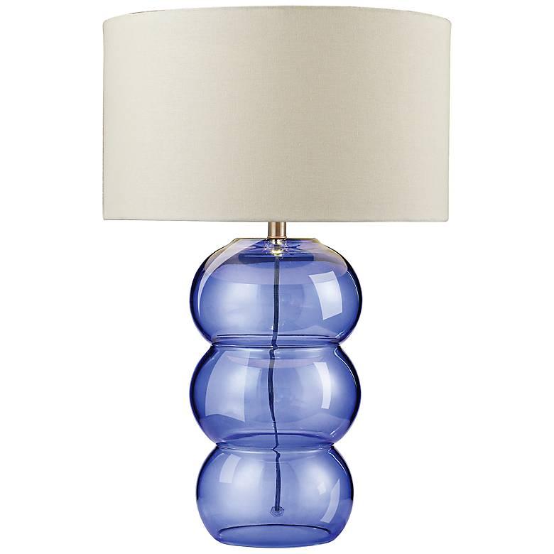 Ring Cobalt Blue Glass Table Lamp