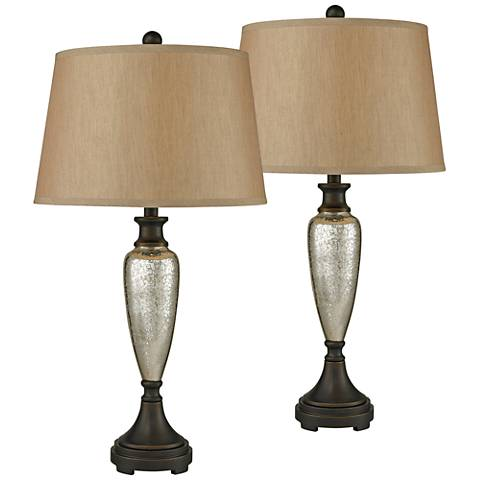 Dimond Caledon Antique Mercury Glass Table Lamp Set of 2