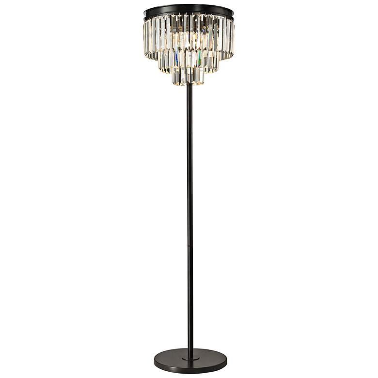 "Palatial 62"" High Crystal Floor Lamp"