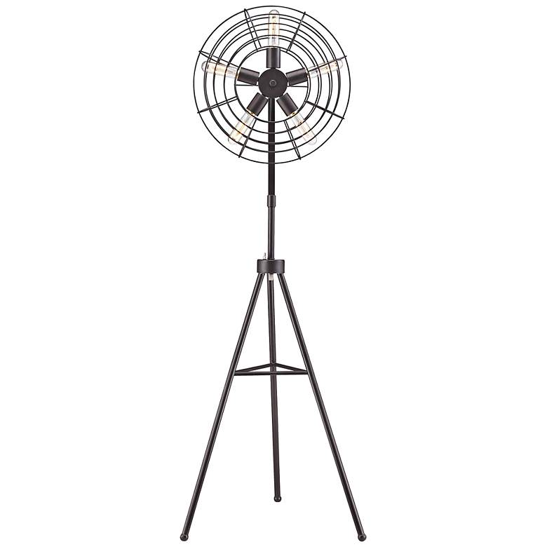 "Quensbury 59"" High Restoration Fan Floor Lamp"