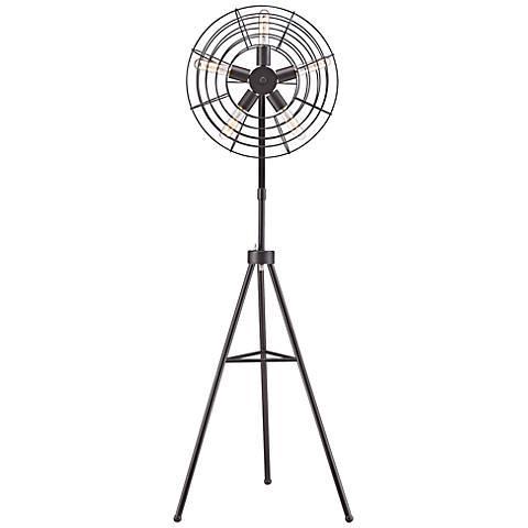 Dimond Quensbury Restoration Fan Floor Lamp