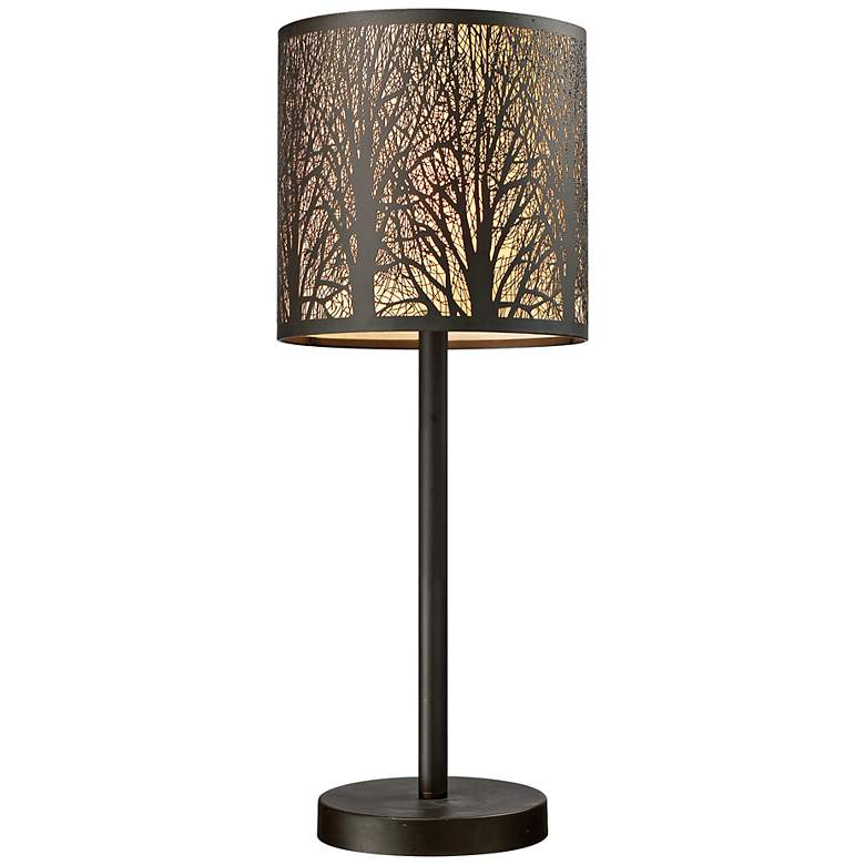 """Woodland Sunrise 20"""" High Bronze Accent Table Lamp"""
