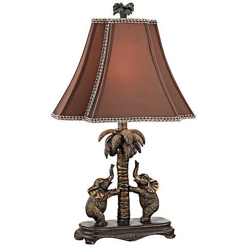 Dimond Adamslane Elephant Bronze Table Lamp