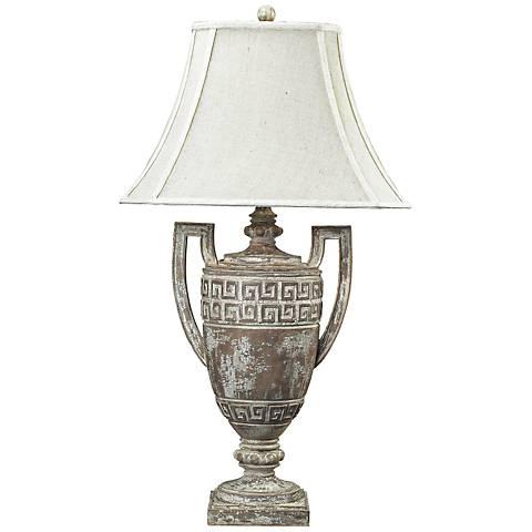 Dimond Greek Key Table Lamp