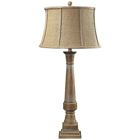 Dimond Lyerly Bleached Wood Table Lamp