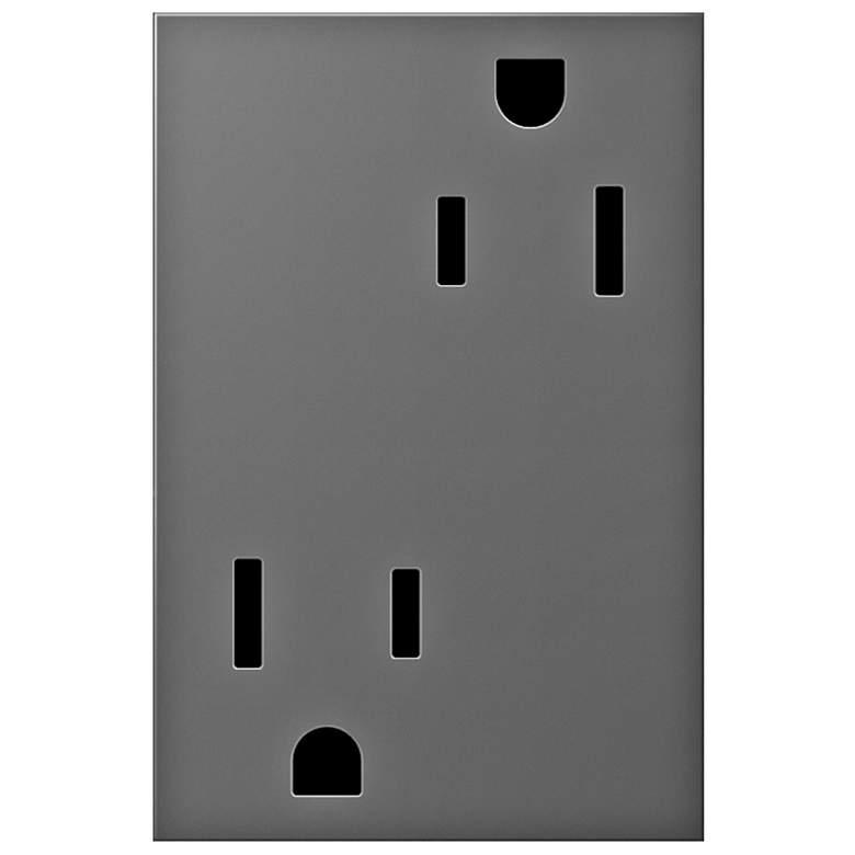 adorne® Magnesium 15A Tamper-Resistant 3-Module Outlet