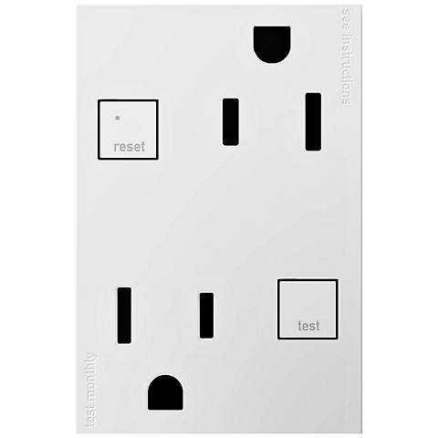adorne® White 15A Tamper-Resistant 3-Module GFCI Outlet