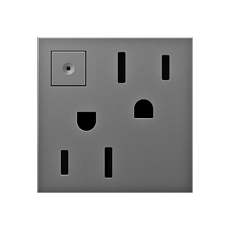 adorne® Magnesium 15A Energy-Saving On-Off Wall Outlet