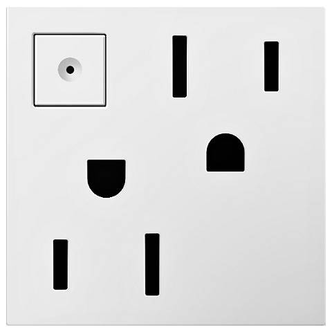 adorne® White 15A Energy-Saving On-Off Wall Outlet