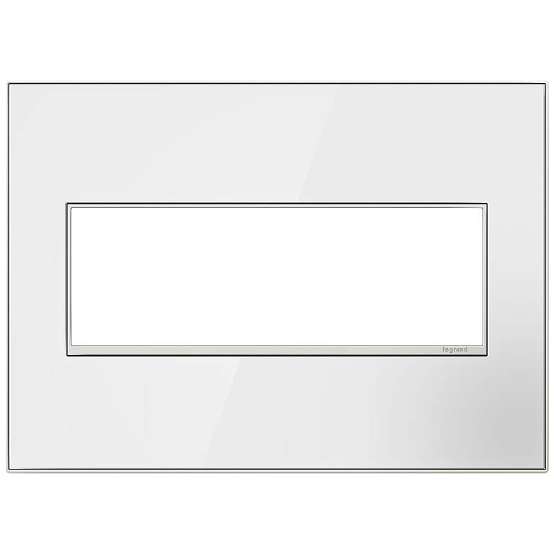 adorne® 3-Gang Mirror White with Black Back Wall