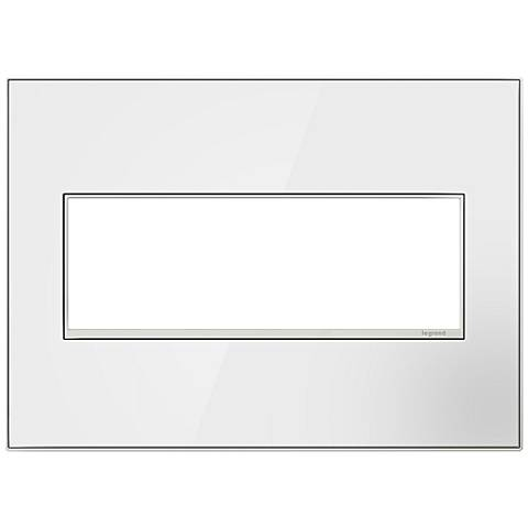 adorne® 3-Gang Mirror White with Black Back Wall Plate