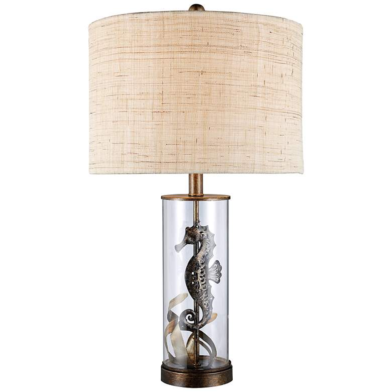 Largo Clear Glass Seahorse Table Lamp