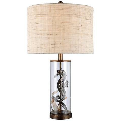 Dimond Largo Clear Glass Seahorse Table Lamp