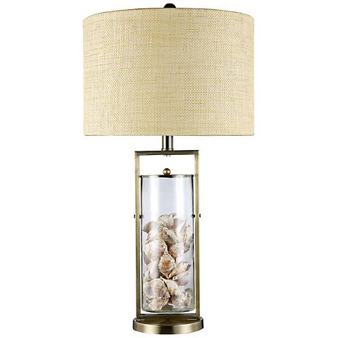 Dimond Millisle Clear Glass Seashell Table Lamp