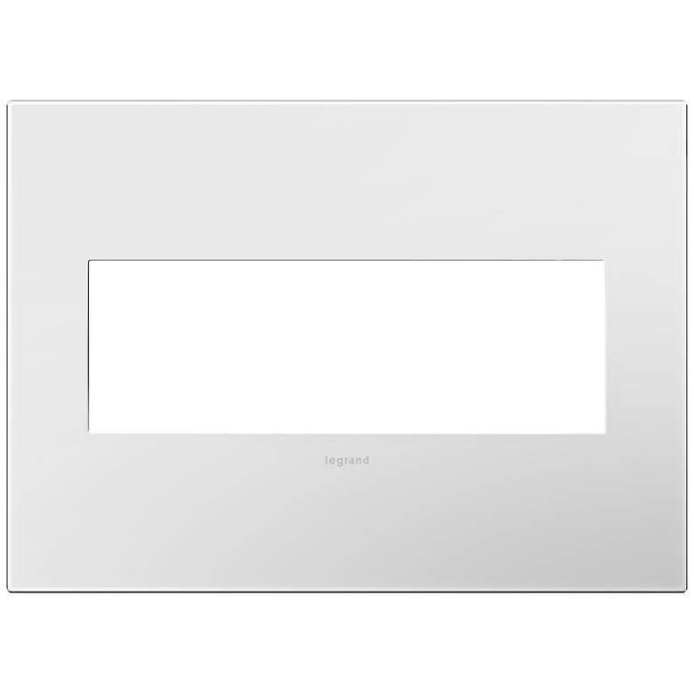 adorne® Gloss White w/ Black Back 3-Gang Snap-On Wall Plate