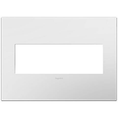adorne® Gloss White w/ Black Back 3-Gang Snap-On Wall Plate