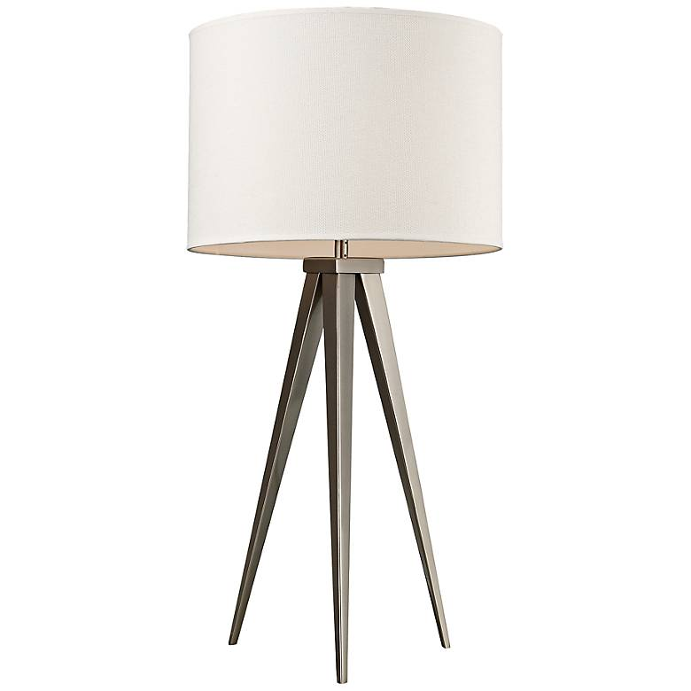 Salford Satin Nickel Tripod Table Lamp