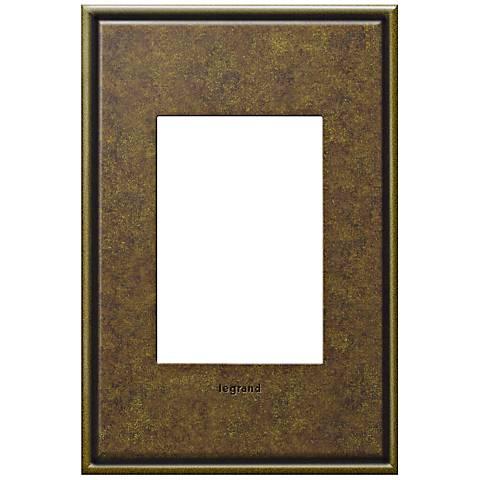adorne® Cast Metal 1-Gang 3-Module Aged Brass Wall Plate