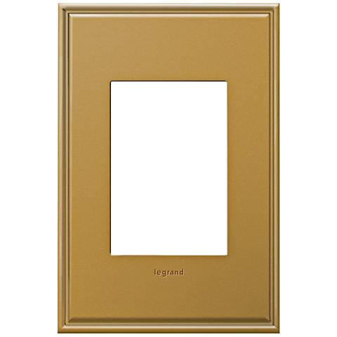 adorne® 1-Gang 3-Module Antique Bronze Wall Plate