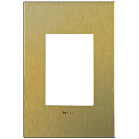 adorne® 1-Gang 3-Module Brushed Brass Wall Plate