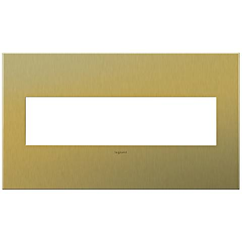 adorne® 4-Gang Brushed Brass Wall Plate