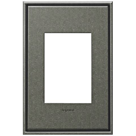 adorne® 1-Gang 3-Module Brushed Pewter Wall Plate