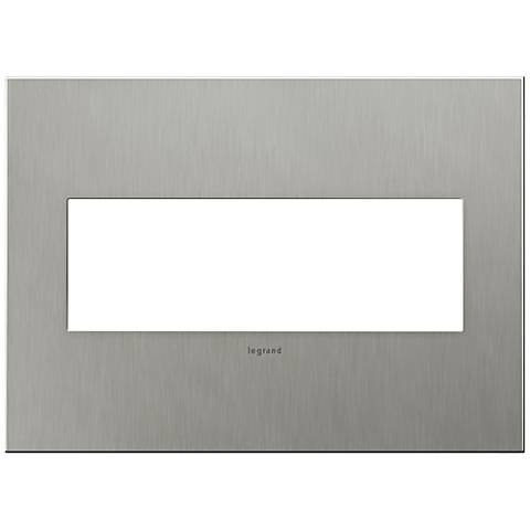 adorne® 3-Gang Brushed Stainless Steel Wall Plate