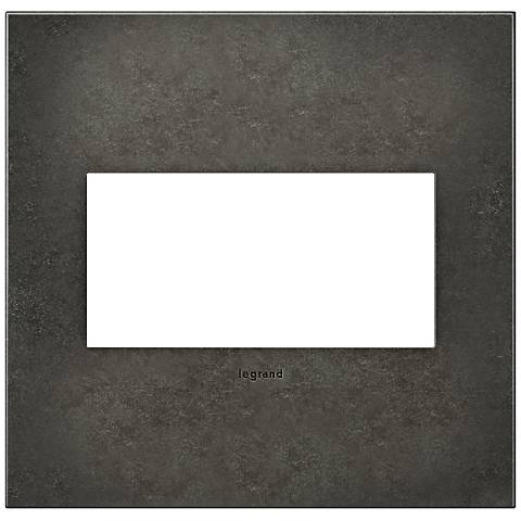 adorne® Cast Metal 2-Gang Dark Burnished Pewter Wall Plate