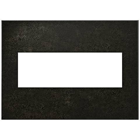 adorne® Cast Metal 3-Gang Dark Burnished Pewter Wall Plate