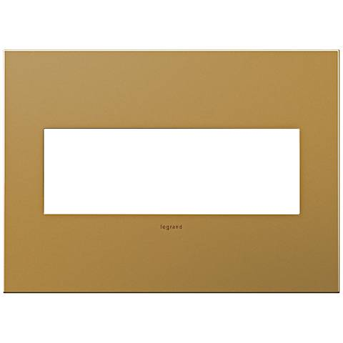 adorne® 3-Gang Satin Bronze Wall Plate