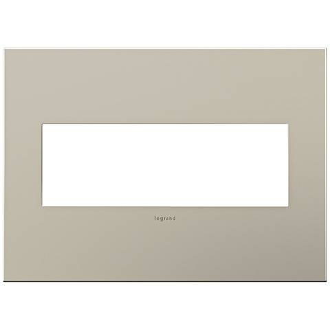 adorne® 3-Gang Satin Nickel Wall Plate