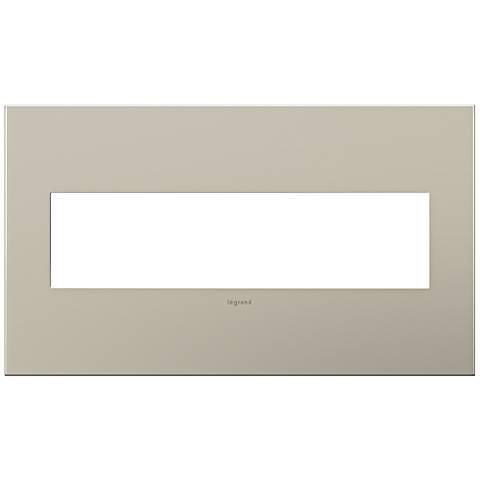 adorne® 4-Gang Satin Nickel Wall Plate