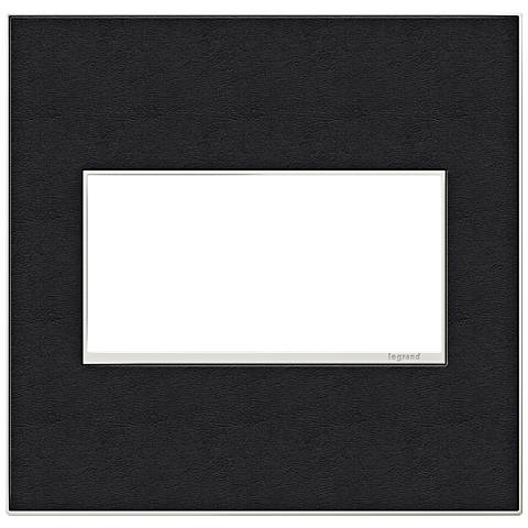 adorne® 2-Gang Black Leather Wall Plate