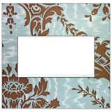 adorne® White Trim 2-Gang Customizable Wall Plate