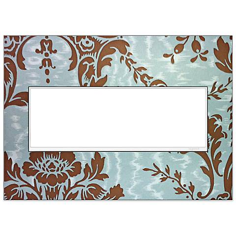 adorne® White Trim 3-Gang Customizable Wall Plate