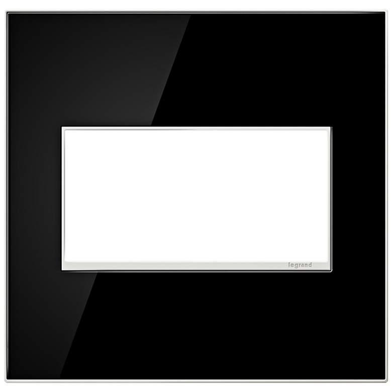 adorne® 2-Gang Mirror Black Wall Plate