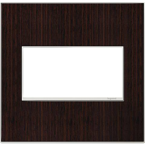 adorne® 2-Gang Wenge Wood Wall Plate