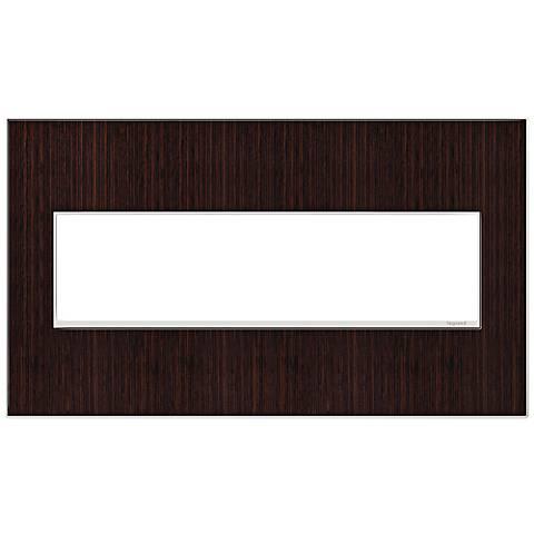 adorne® 4-Gang Wenge Wood Wall Plate