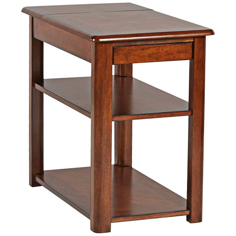 """Madden 16"""" Wide Cherry Finish Chairside Table"""