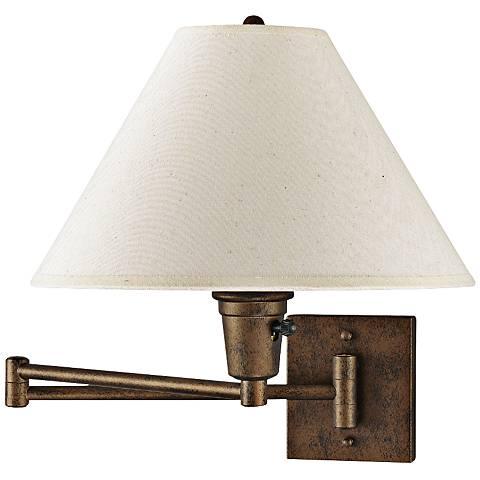 Cal Lighting Rust Plug-In Swing Arm Wall Lamp